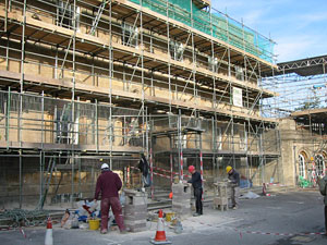 bath spa main house being repaired by Minerva