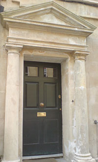 bath stone doorway after cleaning