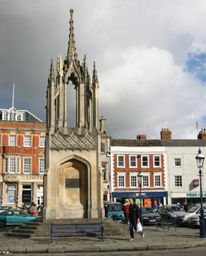 devizes market cross after repair by minerva
