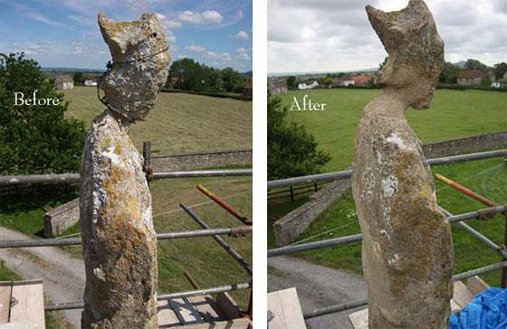 manor farm stone figure restoration by minerva