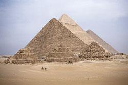 pyramids used lime