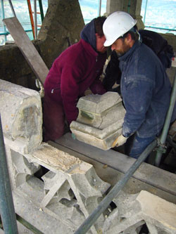 stone repairs by Minerva Conservation