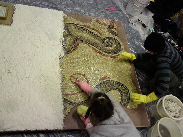 mosaic restoration by Minerva