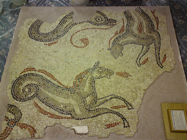 roman mosaic in bath